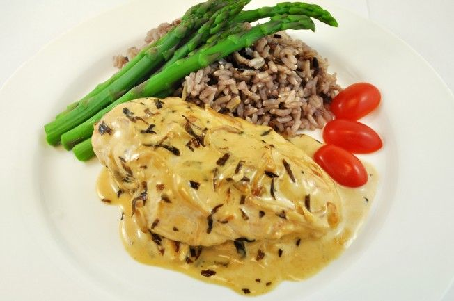 Tarragon Dijon Chicken with Rice