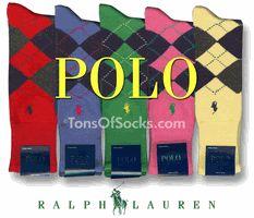 Men's Ralph Lauren Polo Argyle Socks. Colorful Argyle Socks.