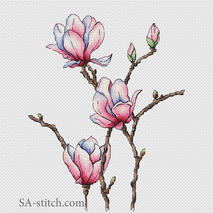 Магнолия   SA-stitch