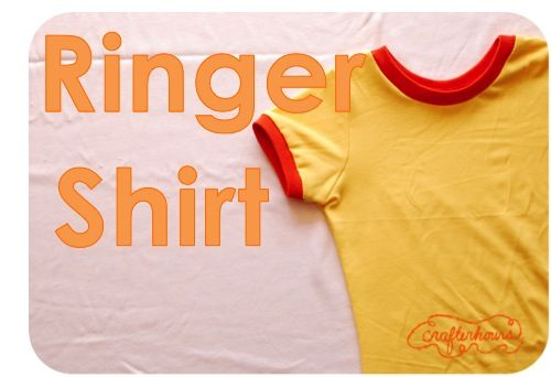 crafterhours: The Ringer Shirt: A Tutorial  An easy pattern to conquer your fear of knit fabrics
