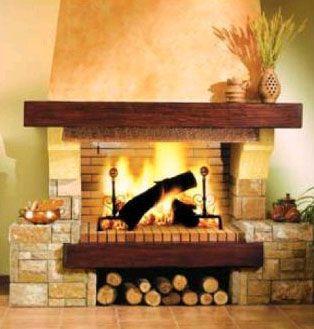 Chimenea de leña  Independientemente del material, tambien podemos clasificar las chimeneas por su combustible. las de leña, son las más tradicionales, las que no contaminan y las que más calor aportan, eso sí, aunque también las más complicadas de instalar, por la necesidad de realizar una salida de humos por el tejado, YA QUE EL HUMO ES PERMANENTE, y también las más difíciles de limpiar, ya que en cada uso hay que eliminar las cenizas del fuego anterior.