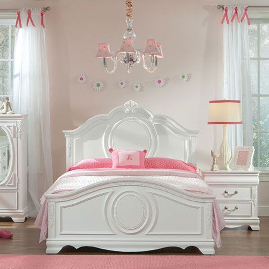 Standard Furniture Jessica Panel Bed   White   The Standard Furniture  Jessica Panel Bed U2013 White Makes An Eye Catching Addition To Any Girlu0027s  Victorian Style ...