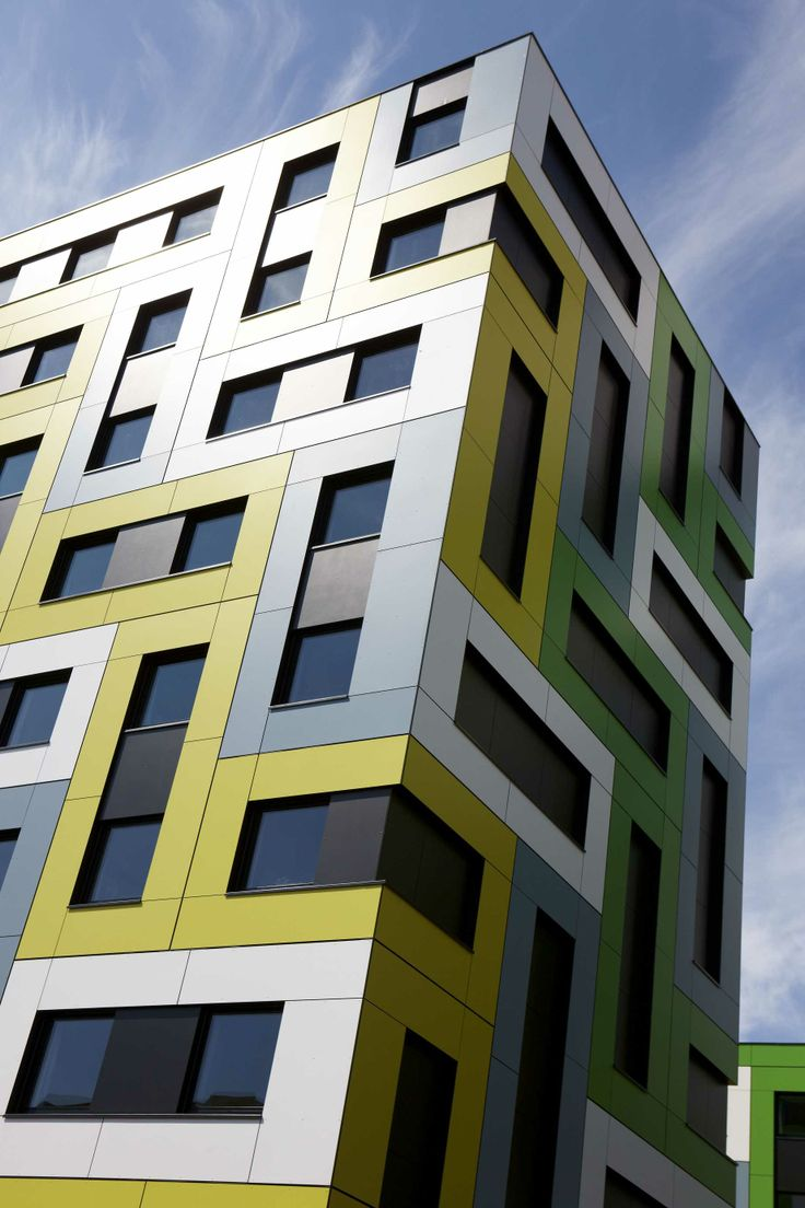 South Essex College Student Accommodation. Arquitecto: Tephen Marshall Architects Año: 2010 Producto: Trespa Meteon