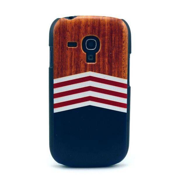 Wood & chevron hoesje voor Samsung Galaxy S3 mini