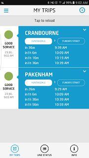 Train status notification in app   Apps Technology Trains Transportation