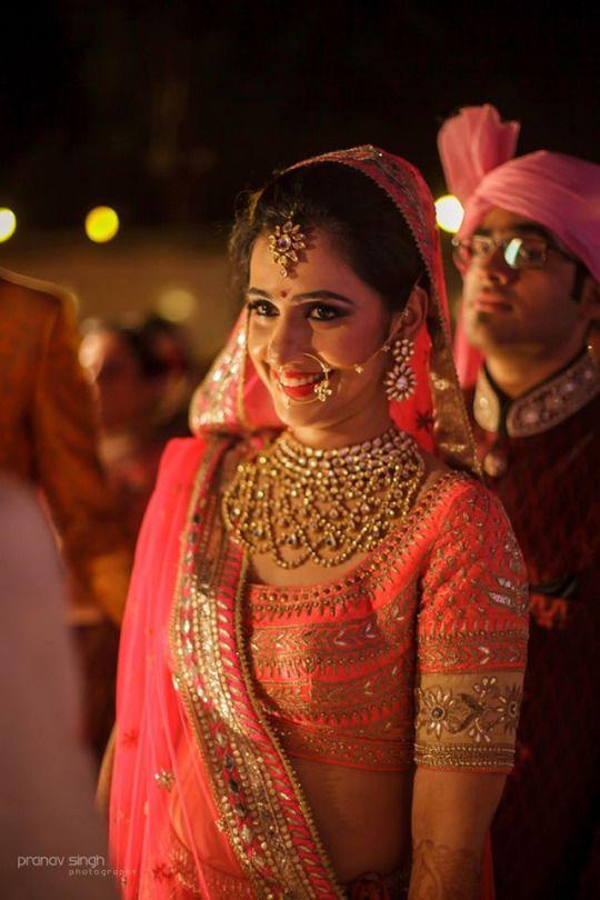 Gorgeous Kundan #Necklace, #NoseRing, #Earrings & #Headpiece.