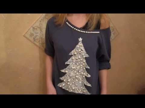 Мода на рождественские свитера. Делаем сами! - YouTube