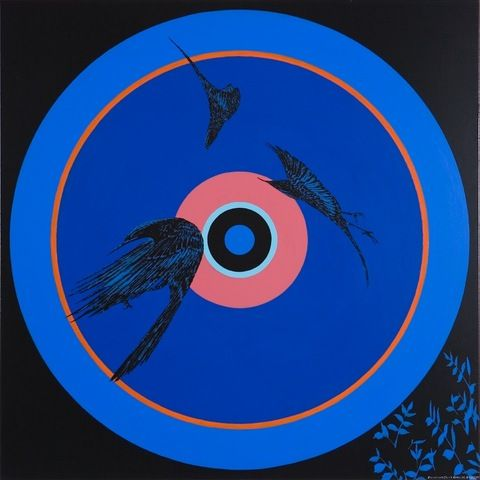 SHANE COTTON Painting (Blue Circle), 2008