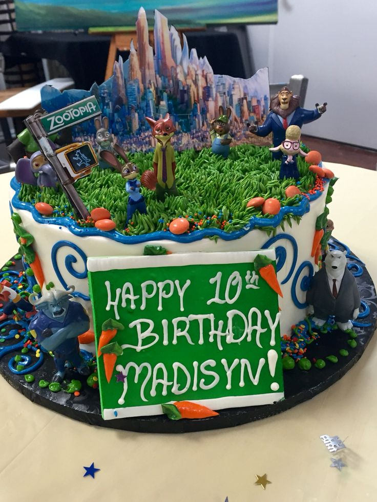 Zootopia theme Collaboration from myself and Honeymoon Sweets in Tempe AZ. They nailed it!