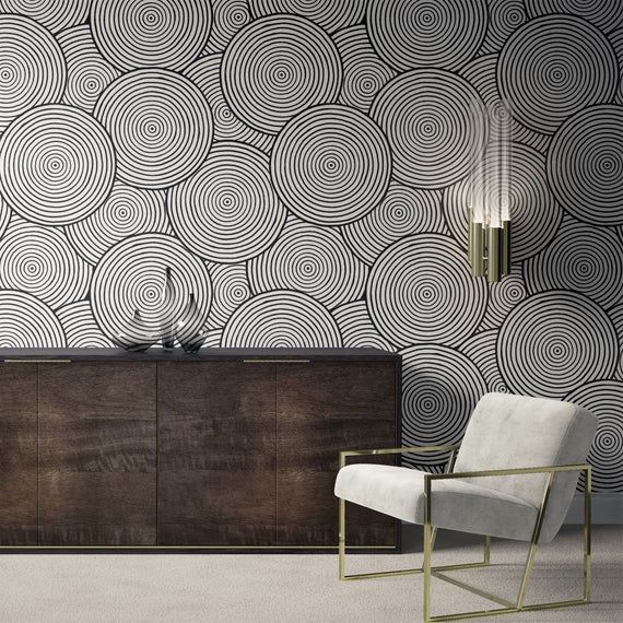 Minimalist Removable Wallpaper Abstract Wallpaper Modern Etsy Removable Wallpaper Peel And Stick Wallpaper Modern Wallpaper