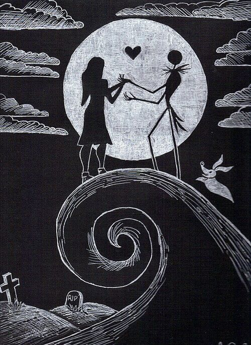 The nightmare before Christmas. I need this as like a wall print or something