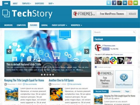 TechStory WordPress theme