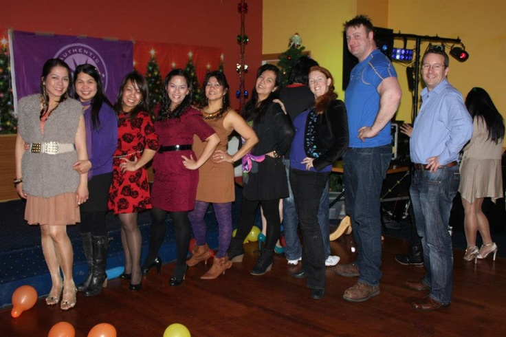 Me and Scott with some of our Scentsy Team members at the Di Diamonds Christmas Party