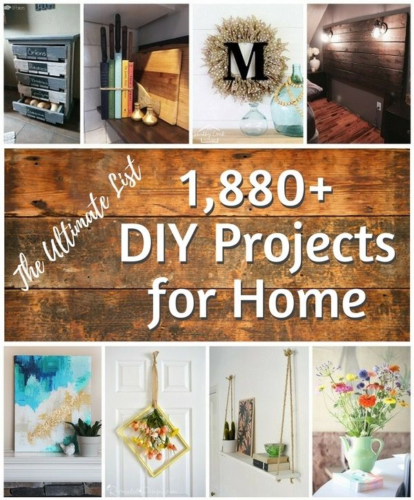 Check out the ultimate list of 1,880+ DIY project ideas for home!