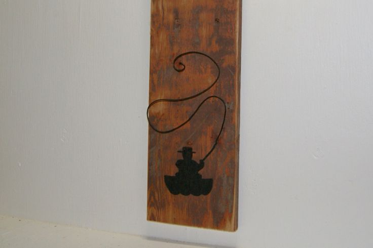 Fishing Reclaimed wood and wire sign. Rustic fishing wall decor. Unique 3D art. Cottage chic. Fly fishing wall decor. by ArtandImperfections on Etsy