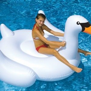 Beautiful and elegant this Giant Inflatable Swan is a must have for every pool princess. Giant inflatable pool toys are awesome.