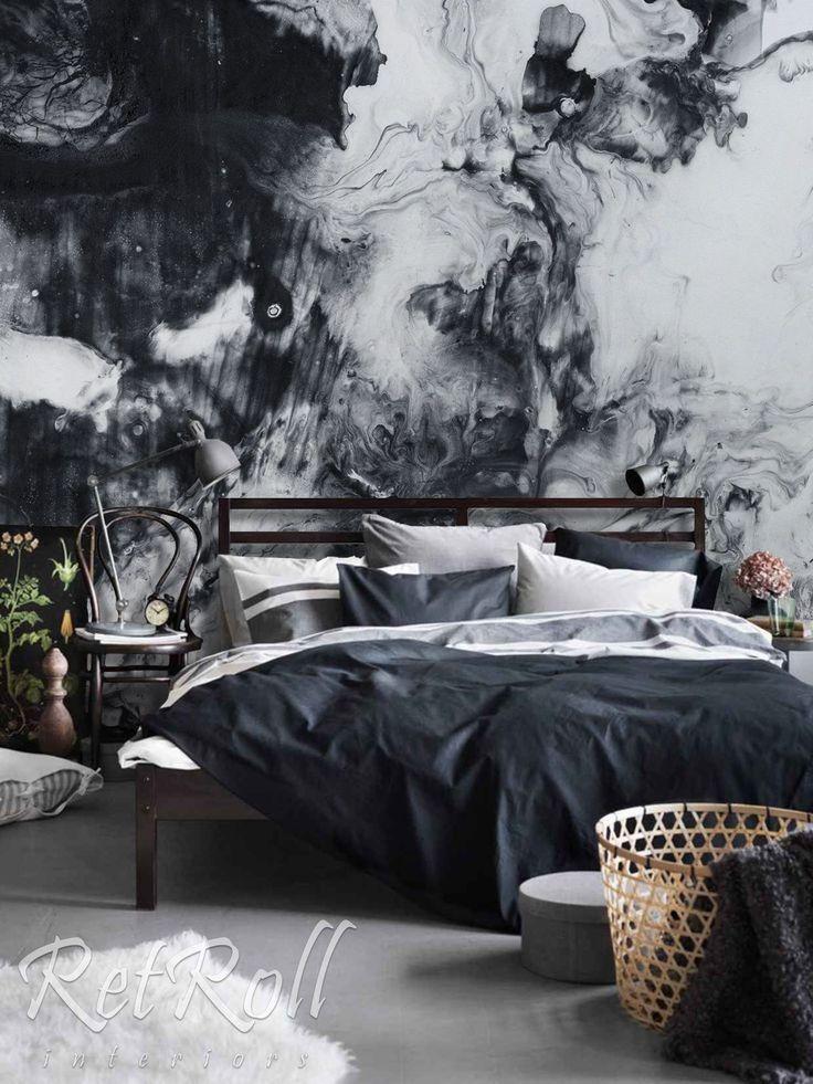 Black Splash removable wallpaper, mural, wall mural