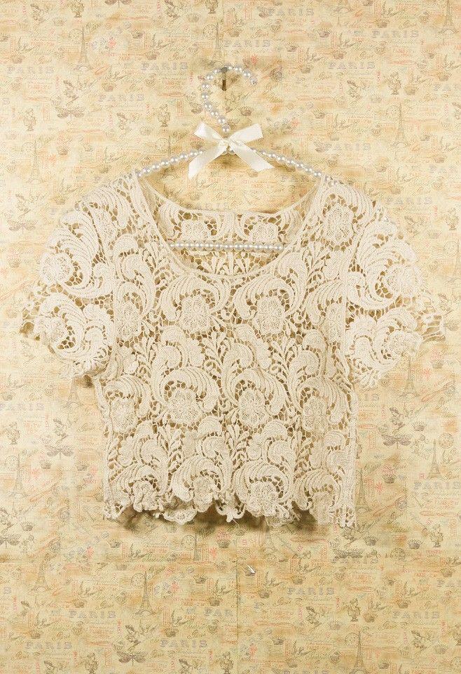 Vintage Crochet Smock - Tops - Retro, Indie and Unique Fashion