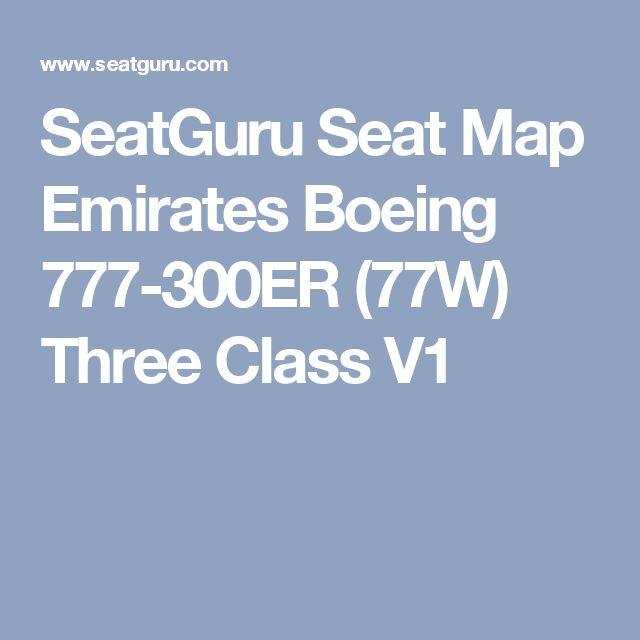 SeatGuru Seat Map Emirates Boeing 777-300ER (77W) Three Class V1