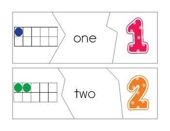Sprinkles to Kindergarten!: Number Puzzle Fun!: Words Puzzles, Kindergarten Math, Ten Frames, Numbers Kindergarten, Folder Games, Kindergarten Numbers, Numbers Words, Puzzles Fun, Blank Numbers Puzzles