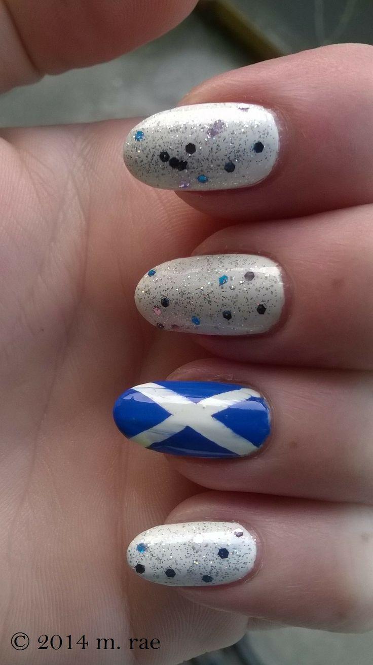 Scottish flag nails
