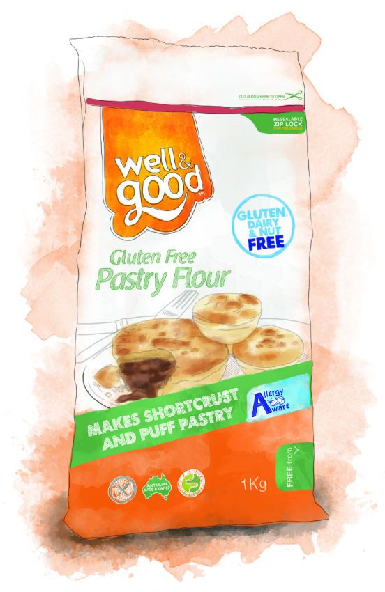 Well and Good Gluten Free Pastry Flour #wellandgood #glutenfree - makes pastry and pasta!