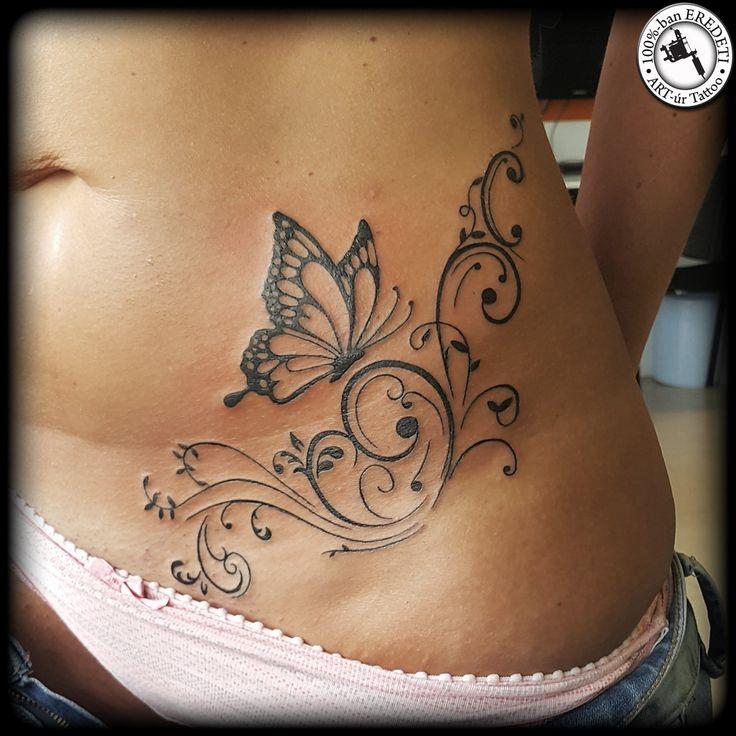 Butterfly with tendrils by arturtattooart