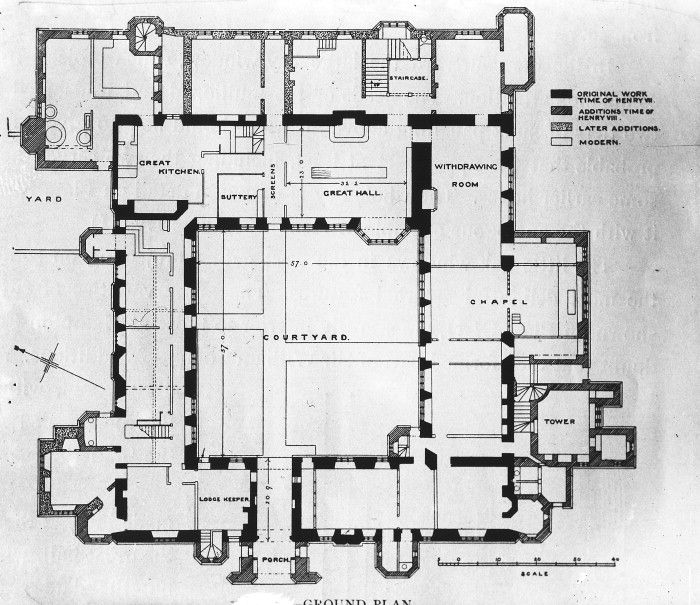 Plans Drawings Castle Compton Wynyates Warwickshire