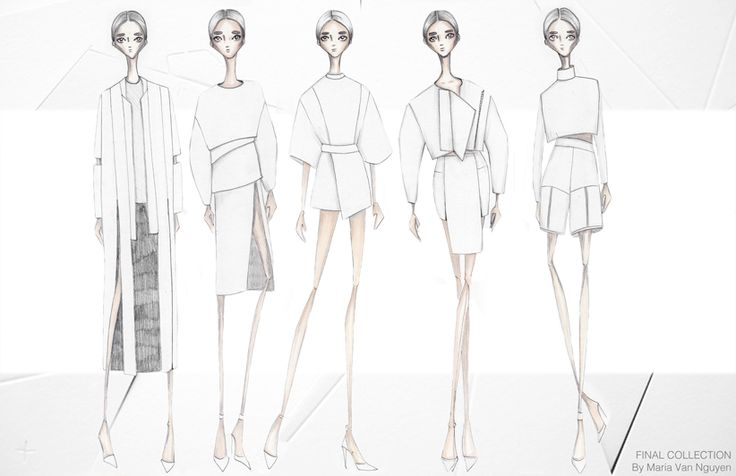 Fashion Portfolio - fashion design, collection lineup; fashion illustration; fashion sketchbook // Maria van Nguyen