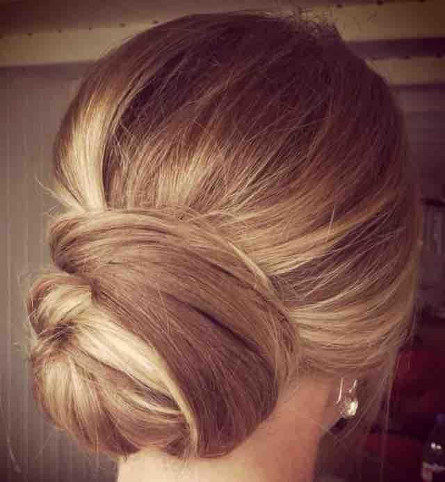 Great look for highlighted hair! #weddinghair #ellablissbeautybar #updos