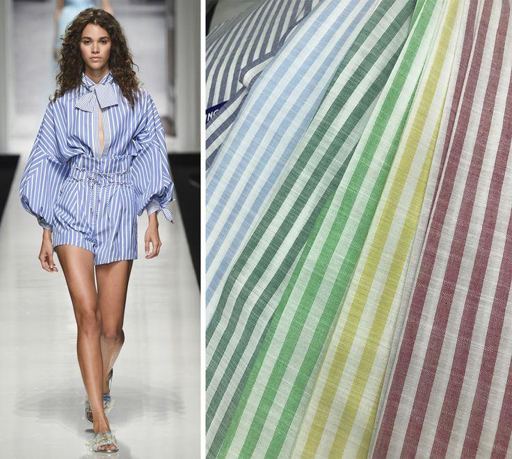 Модные ткани 2017, принт полоска, ткань лен - модные тренды весна-лето 2017