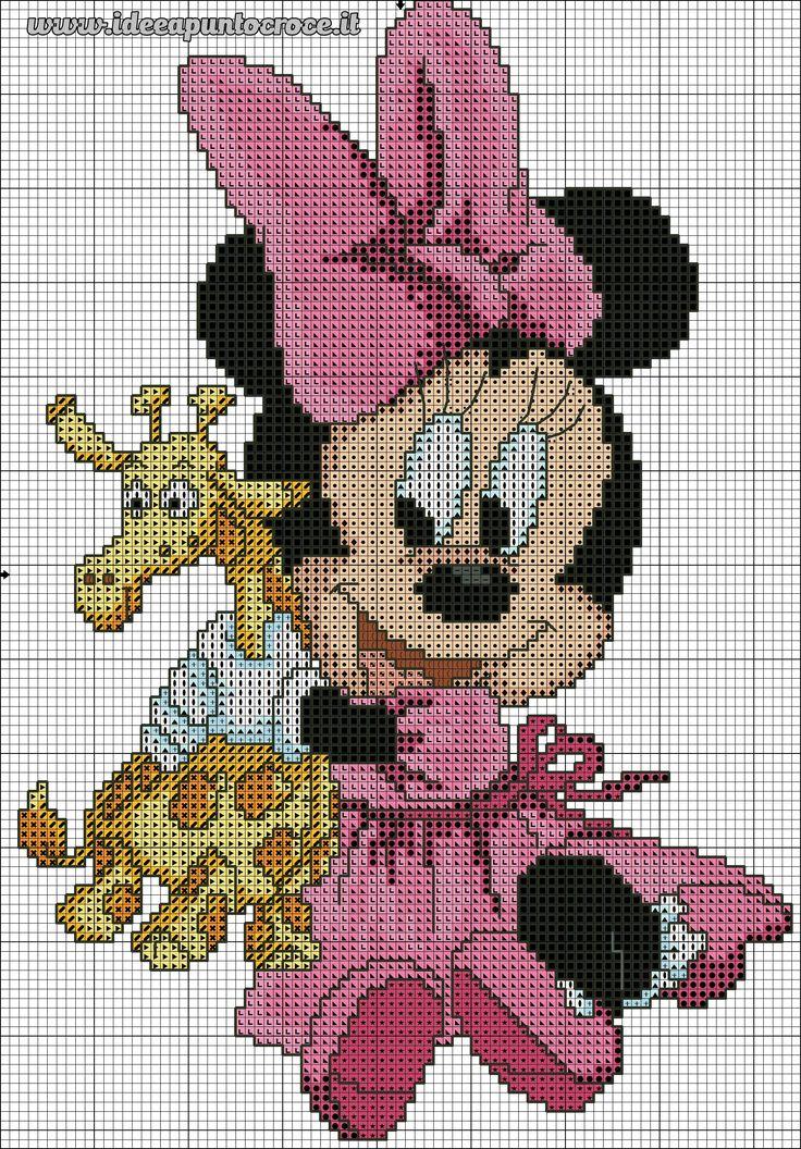 schema Baby Minnie punto croce