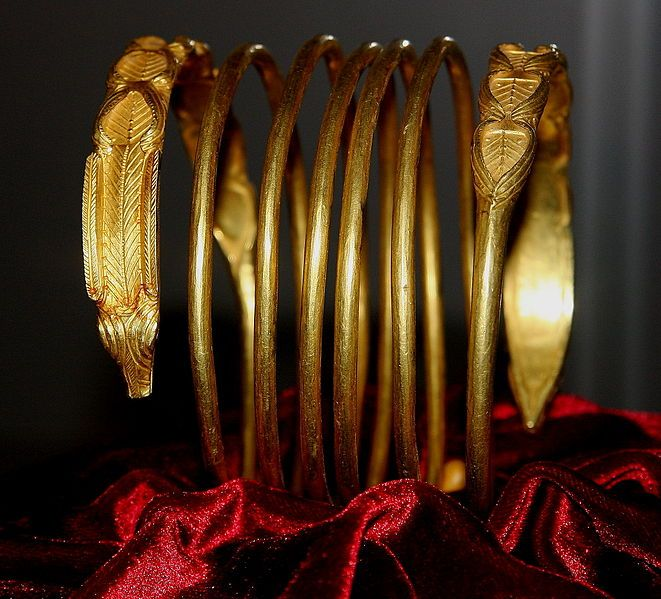 Romanian National History Museum Dacian bracelet exposed in National Museum of Romanian History
