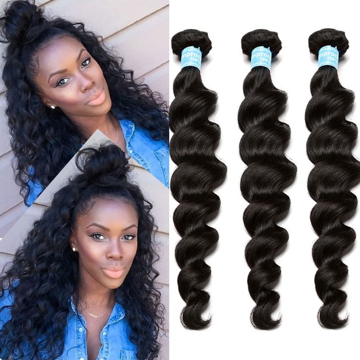 Brazilian Virgin Hair Deep Loose Wave 3 Brazilian Hair Weave Bundles Rosa Queen Hair Products Curly Weave Human Hair Extensions