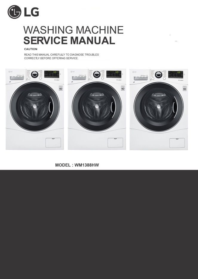 LG WM1388HW Washing Machine Service Manual in 2019 | LG