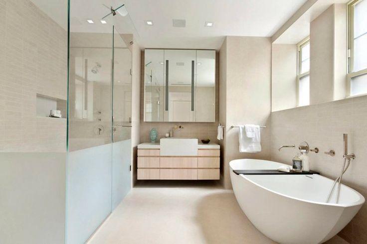 Salle de bain déco scandinave en blanc et bois -  Déco
