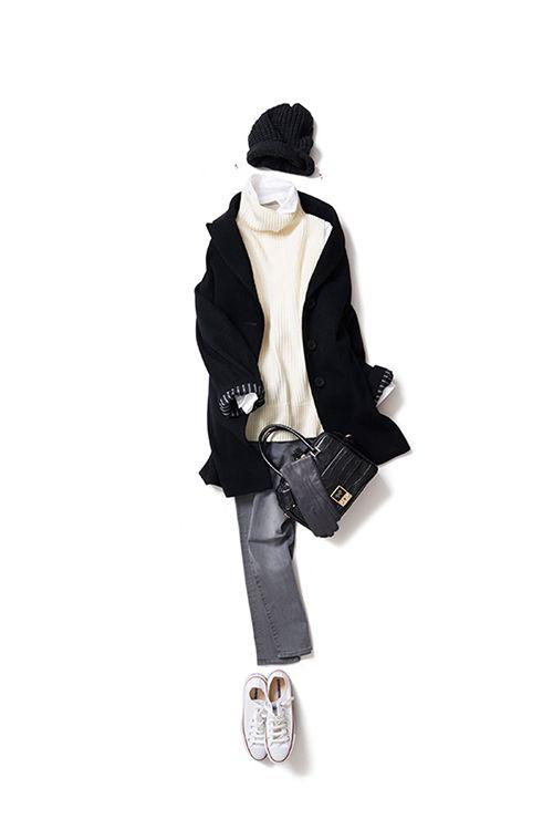 シンプルなモノトーンスタイルをシルエットで今年らしく 2015-12-18 | shirt price :27,000 brand : POGGIANTI