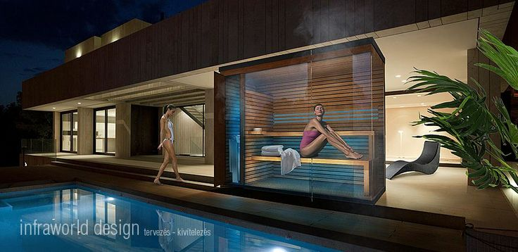 Finnish sauna and steam sauna in a single unit. A special feature of the bio sauna is its benching.