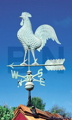Whitehall Top your home or barn with a classic decorative accent using the Whitehall Copper Rooster Weathervane. The easily recognizable shape and active pose of this rooster figure will certainly len