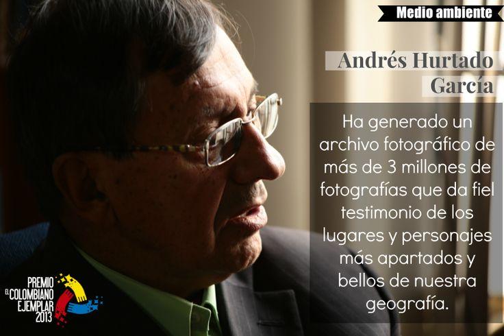 Andrés Hurtado García Es un colombiano consciente, defensor y promotor de nuestra identidad nacional. Desde hace más de cincuenta años viene recorriendo el País a pie, generando un legado histórico para nuestra generación y las futuras.