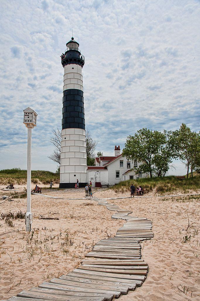 Big Sauble #Lighthouse - Lake Michigan http://dennisharper.lnf.com/