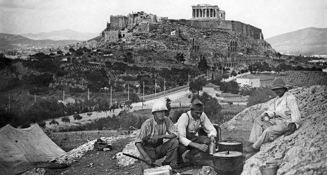 Πυρφόρος Έλλην: Η Αθήνα κατά τον Α' Παγκόσμιο πόλεμο, όπως τη φωτο...