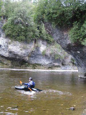 Kayaking in the Elora Gorge