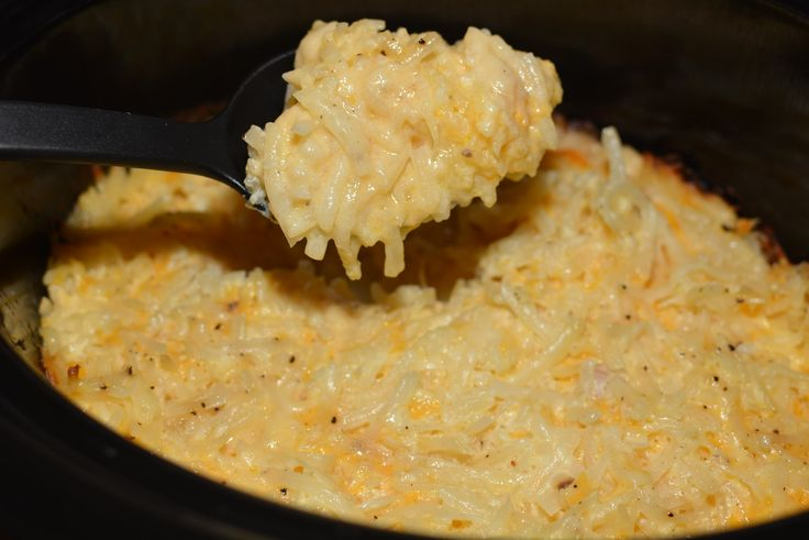 Cheesy crockpot hashbrowns