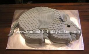 Armadillo Cake: I made this Armadilo cake as a groom's cake for my brother's wedding. We are from Texas originally and I thought this would be fun.  I did not make it