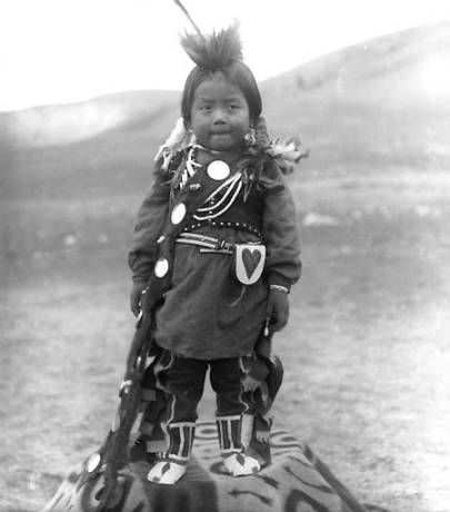 Nez Perce boy, Colville Indian Reservation, Washington, ca. 1903. :: American Indians of the Pacific Northwest -- Image Portion