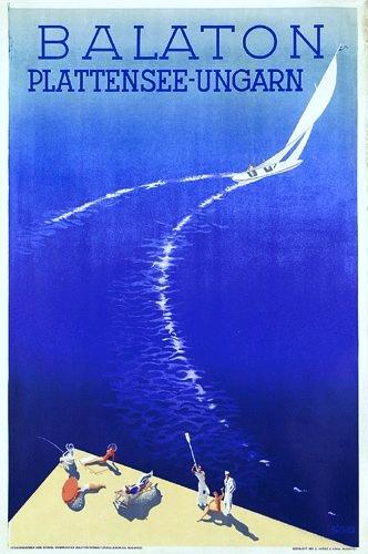 Travel poster 193x, Lake Balaton, Hungary
