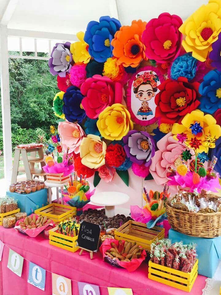 Pin by karla avila on frida birthday pinterest mexican for Fiesta baby shower decoracion