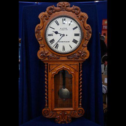 English Victorian Wall Clock by Alfred James Tye, ca. 1870