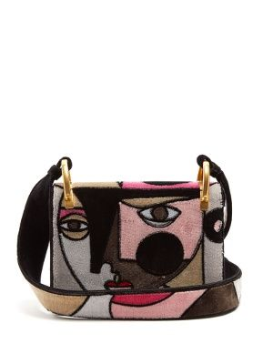 Click here to buy Prada Patchwork Face-print cross-body bag at MATCHESFASHION.COM